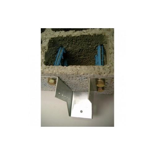 Chevilles nylon longues tirefond fixation lourde sabots de charpente - Fixation lourde parpaing creux ...