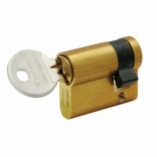 Demi cylindre FIRST 5000 varié, laiton poli - Longueur 30 x 10 mm