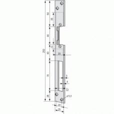 Têtière de gâches électriques - plate longue - type HZ