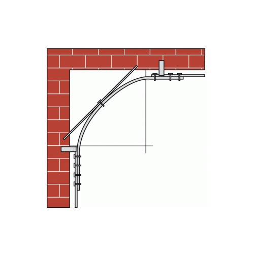 Rails profil s courbes 1722 section 40 x 6 mm pour for Porte coulissante courbe