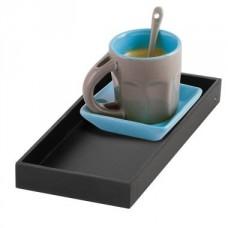 Service à café solo bleu en céramique