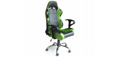 Siège baquet cuir Vert et Noir fauteuil de bureau