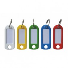 Porte-clés à étiquettes Blanc