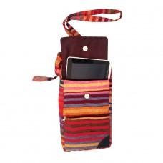 Détails sur  Pochette ethnique en sabra et coton coloré - Artisanat Marocain