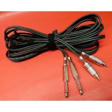 Câble Kenwood 2 RCA et 2 jacks mono