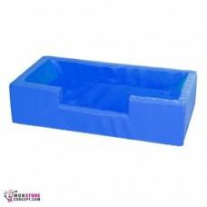 Mini piscine Sans balles, Dim :100 x 50 x 25 Couleur Bleu