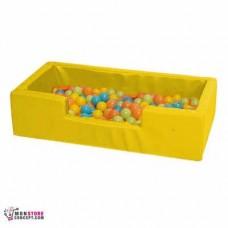 Mini piscine Avec Balles (50 Balles en Vrac) Dim 100 x 50 x 25 – Couleur Jaune