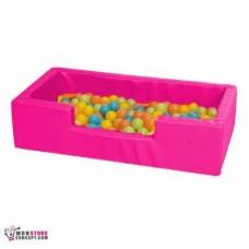 Mini piscine Avec Balles (50 Balles en Vrac) Dim 100 x 50 x 25 – Couleur Rose
