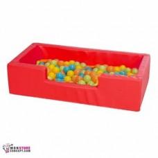 Mini piscine Avec Balles (50 Balles en Vrac) Dim 100 x 50 x 25 – Couleur Rouge