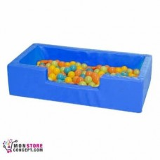 Mini piscine Avec Balles (50 Balles en Vrac) Dim 100 x 50 x 25 – Couleur Bleu