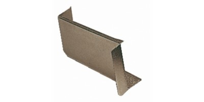 Ferrures de fixation d'éléments hauts - Caches de boîtier 806 - Boîte de 5 - Nickelé satiné
