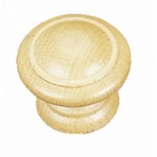 Boutons Régence hêtre - bois brut poncé - Diamètre 25 mm