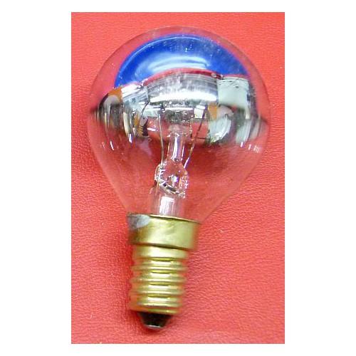 Ampoule incandescente SYLVANIA sphérique calotte argentée E14