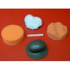 Kit polissage lustrage cale et mousse et laine 75mm