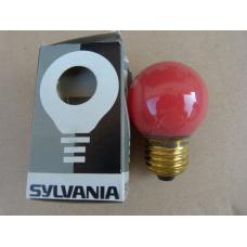 Ampoule sphérique rouge E27 Sylvania incandescence 15w
