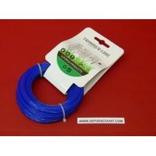 Bobine fil nylon 15mx1.6mm étoilé débroussailleuse bleu