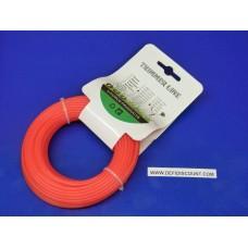 Bobine fil nylon 15mx2.4mm rond débroussailleuse orange