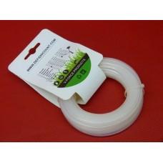 Fil nylon étoilé blanc 2.4mmx15m débroussailleuse multifonctions