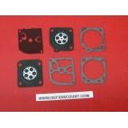 Kit membranes et joints 6 pièces carburateur ZAMA GND-33
