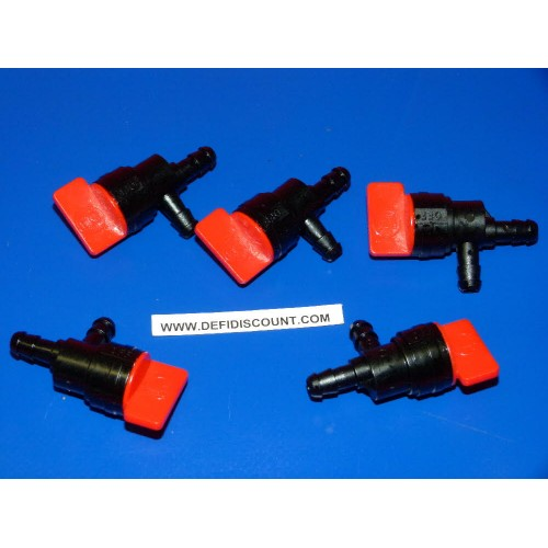 x5 Robinets essence carburant Briggs et Stratton 90° 7-8mm