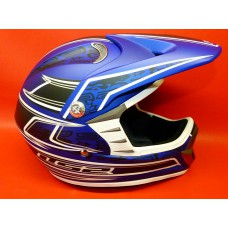 Casque cross LS2 Matt Bleu