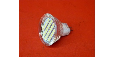 Ampoule 12v MR11 24 leds blanc pure 6000 6500K