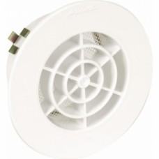 Grille d'aération intérieure adaptable sur PVC blanc avec moustiquaire