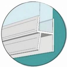 Joint bas double lèvre pour porte de douche - longueur 1 m