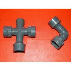 Croix ou coude union PVC arrosage jardin irrigation