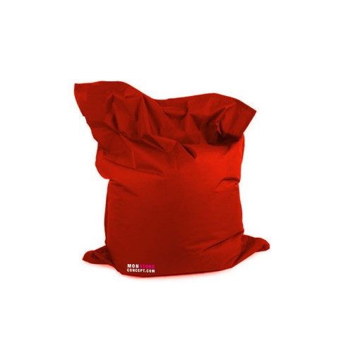 housse pouf g ant sans bille couleur rouge. Black Bedroom Furniture Sets. Home Design Ideas