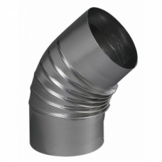 Coude à 45° en aluminium rigide - diamètre 83 mm