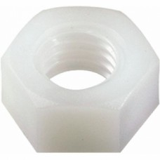 Écrous hexagonaux nylon - Diamètre 3 mm