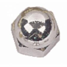 Écrous borgnes laiton chromé - Diamètre 4 mm