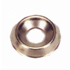 Rondelles cuvettes embouties laiton nickelé -  Ø pour vis 3 mm