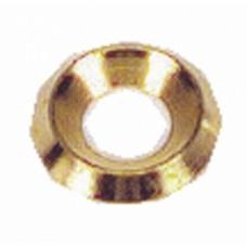 Rondelles cuvettes décolletées laiton poli  -  Ø pour vis 3,5 mm