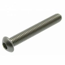 Vis à métaux tête cylindrique bombée 6 pans creux inox A2 ISO 7380  Ø 4 - Longueur 8 mm