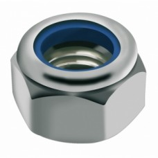 Écrous de sécurité hexagonaux bague polyamide inox A2 - Diamètre 3 mm