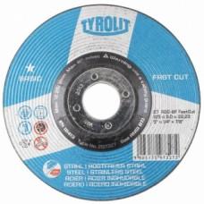 Disque à ébarber métaux inox moyeu déporté Basic -  Dimensions 115 x 6 x 22,2 mm