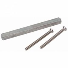 Fixations pour bequilles sur plaques sans douille avec vis acier nickelé - Argent