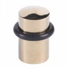Butoir acier inoxydable laitonné à bourrelet caoutchouc Ø 32 x 44 mm