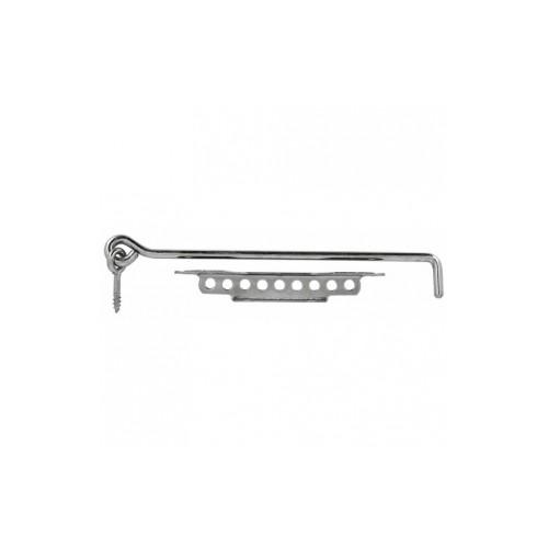Crochets à crémaillière acier zingué pour fermeture de volet battant - Longueur 400 mm