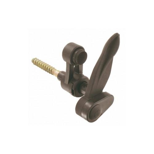 Arrêts marseillais à vis à bois polyamide noir réglable avec butée pour volet battant PVC