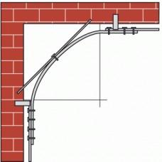 Rails profilés courbes 1722 section 40 x 6 mm pour ferrures porte coulissante sur fer plat - série Bob