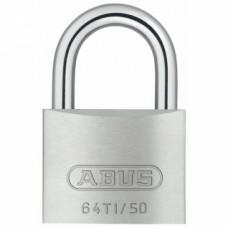 Cadenas à clé variés en aluminium TITALIUM™ avec anse en acier cémenté - TITALIUM 35