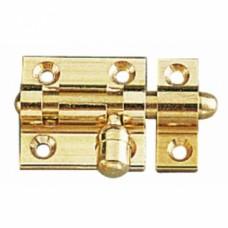 Targettes à pène rond laiton platine rectangulaire - Largeur 50 mm