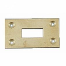 Gâche pour verrou vertical à boîte laiton - Dimention 60 x 35 mm