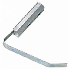 Contre-plaques à ressort pour paumelles menuiserie aluminium universelles 2 lames - Largeur 15 mm
