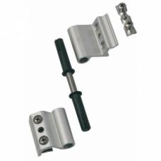 Paumelles menuiserie aluminium universelles axiales 2 lames G 46730 - Argent