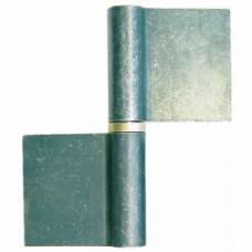 Paumelles de grille nœuds plats lames symétriques type GO - Hauteur 60 mm