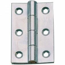 Charnières havraises rectangulaires acier zingué - Hauteur 70 mm